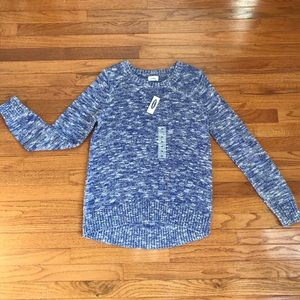 Blue Heathered Old Navy Sweater (NWT)